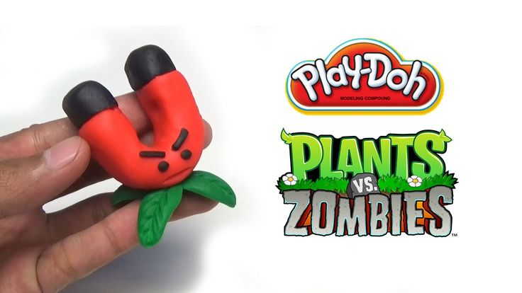 Play-Doh Plants vs Zombies Garden Warfare Magnet-shroom from Plants vs. ...
