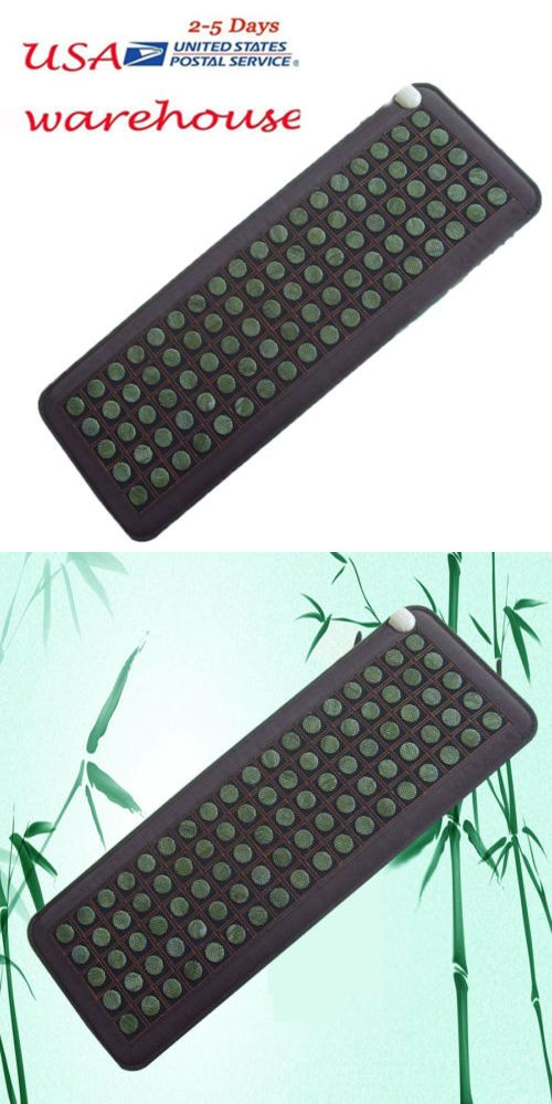 Massage Stones and Rocks: Usa Stock Natural Jade Tourmaline Stones Infrared Heating Mat Relax -> BUY IT NOW ONLY: $144 on eBay!