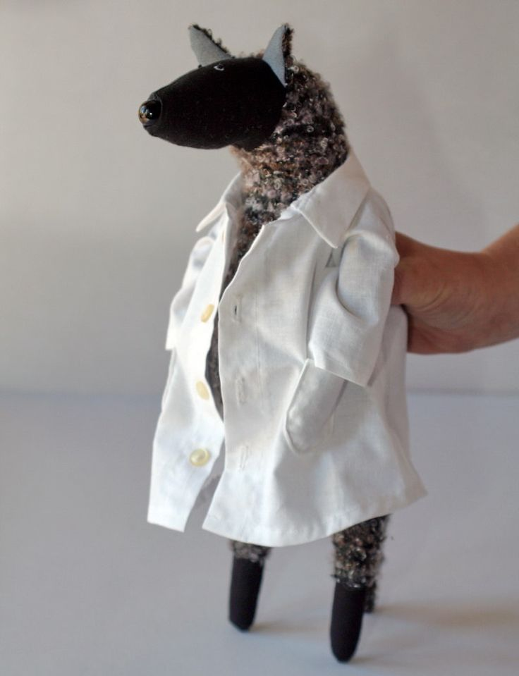 Dr. Wolf, stuffed animal toy for children by andreavida on Etsy https://www.etsy.com/listing/129825121/dr-wolf-stuffed-animal-toy-for-children