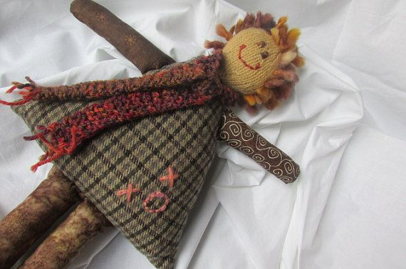 Doll-Knitted-Sewn-Upcycled-Recycled-Child Friendly-Brown/Mocha/Rust