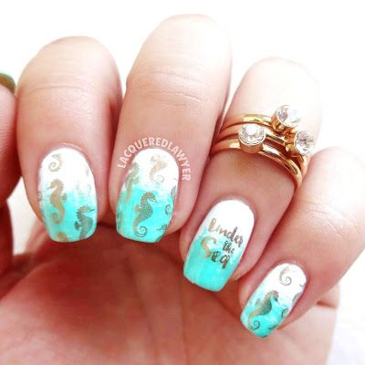 Lacquered Lawyer | Nail Art Blog: Seahorse Serenity