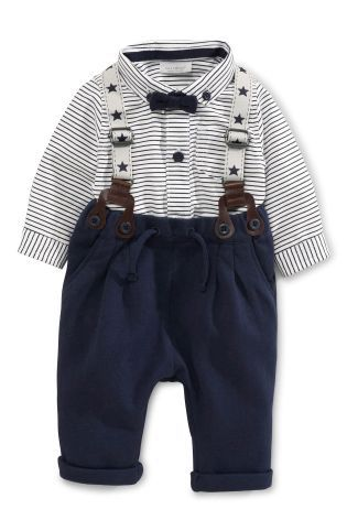 Buy Navy Trousers, Shirt And Braces Set (0mths-2yrs) online today at Next: United States of America