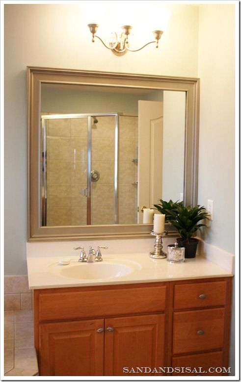 Framing Bathroom Mirror Over Metal Clips best 25+ framed bathroom mirrors ideas on pinterest | framing a