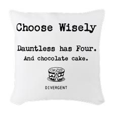funny+divergent+things | Divergent - Choose (Funny) Woven Throw Pillow for