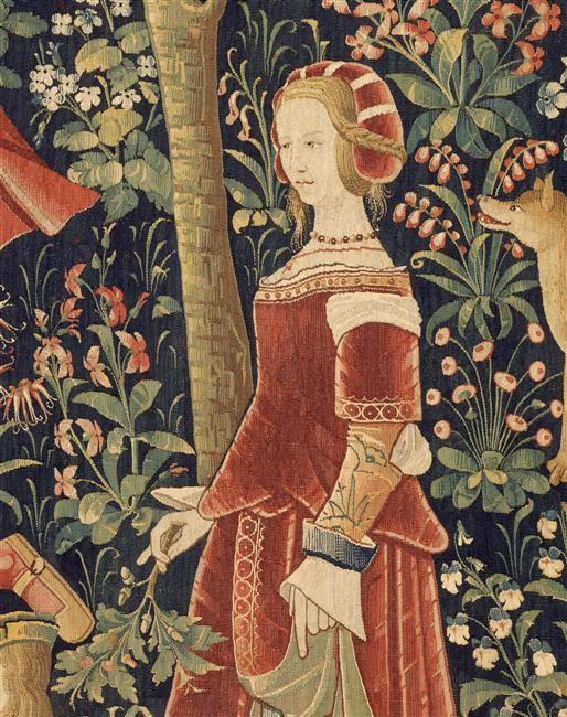 La tenture de la Vie Seigneuriale: Scènes galantes. Paris, musée de Cluny - musée national du Moyen-Age