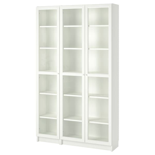 Billy Oxberg Bookcase With Glass Doors White 47 1 4x11 3 4x79 1 2 Ikea Glass Bookcase Bookcase With Glass Doors White Bookcase