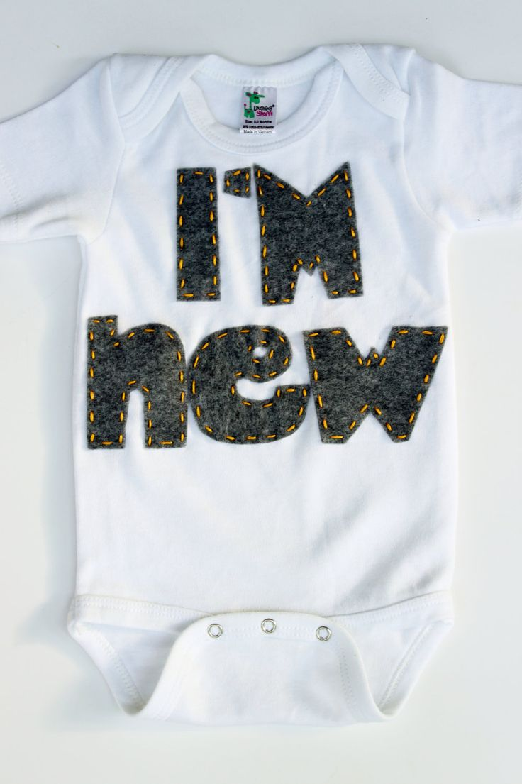 Im New onisie, shirt, unisex, baby shower gift, baby announcement. $15.99, via Etsy.