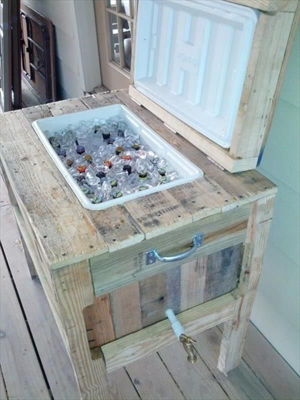 You can add a chiller of any size in the pallet cooler stand. You can also add drawers in it to keep bottle openers for your easiness.