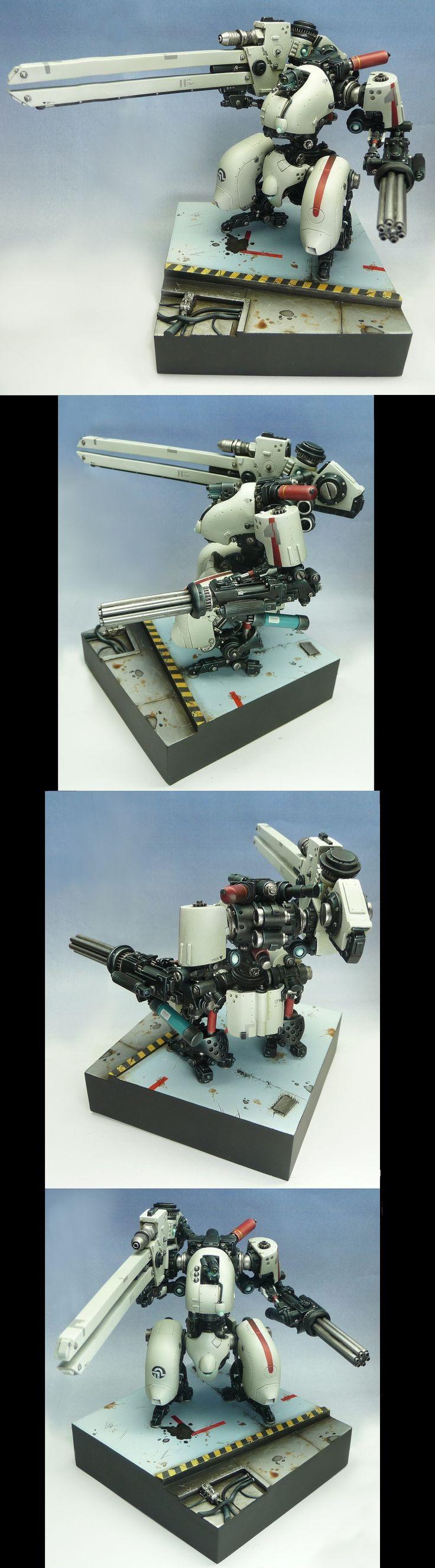 Filbot FDV4 Mako with Railgun - Love the basing.