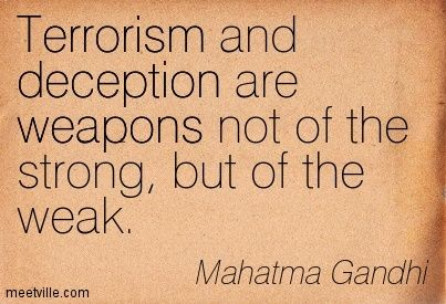 quote about terrorism and faith ghandi - Google Search