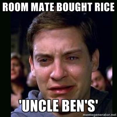 Spiderman Uncle Ben Rice Meme