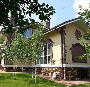 Evgenia Vayner #country #house #rustic #cladding #stone  #birch  Евгения Вайнер #дом #кантри #кирпич #камень #березы