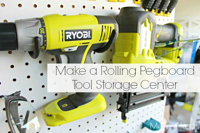 Make Your Own Portable Tool Storage / Organization Caddy - Mom 4 Real