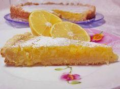 песочный тарт с лимоном