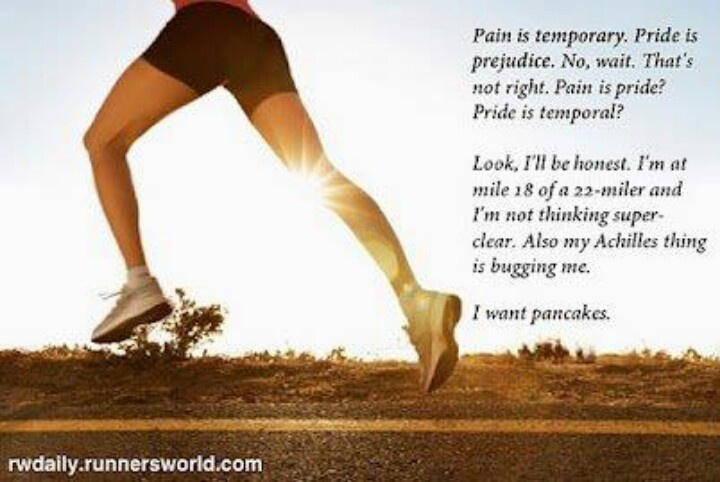 Yes ... this is what I think about too ... what am I gonna eat when I finish my run ... Ha! So true ...