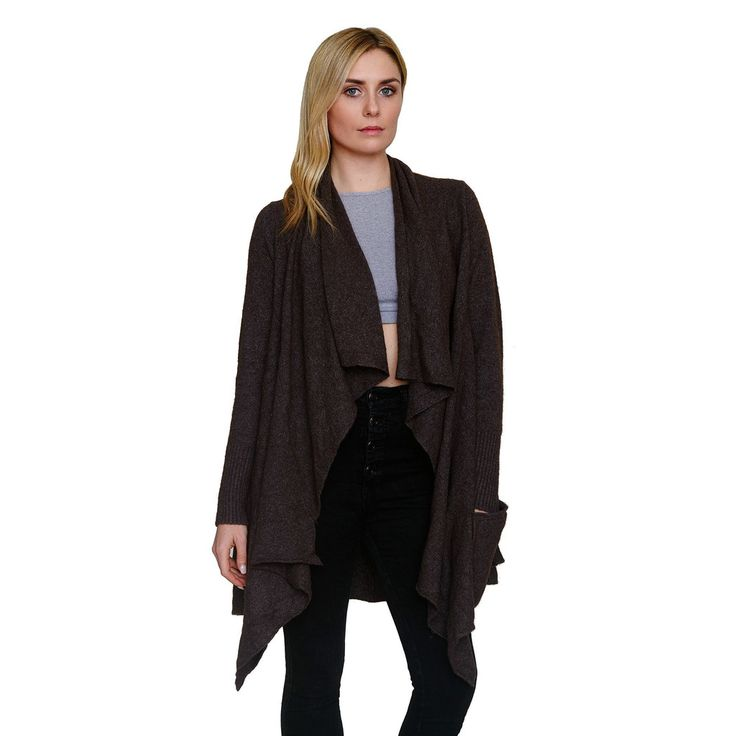 Waterfall Cardigan | Taupe and Free people
