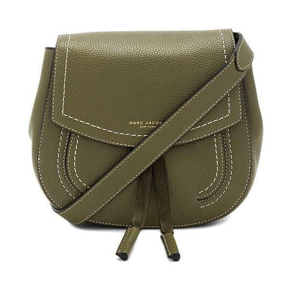 Marc Jacobs Maverick Mini Shoulder Bag (€390) ❤ liked on Polyvore featuring bags, handbags, shoulder bags, marc jacobs shoulder bag, leather hand bags, shoulder handbags, brown leather purse and leather purses