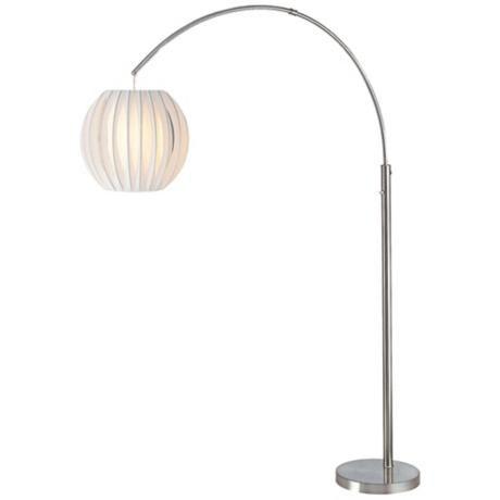 lite source deion single light hanging arc floor lamp