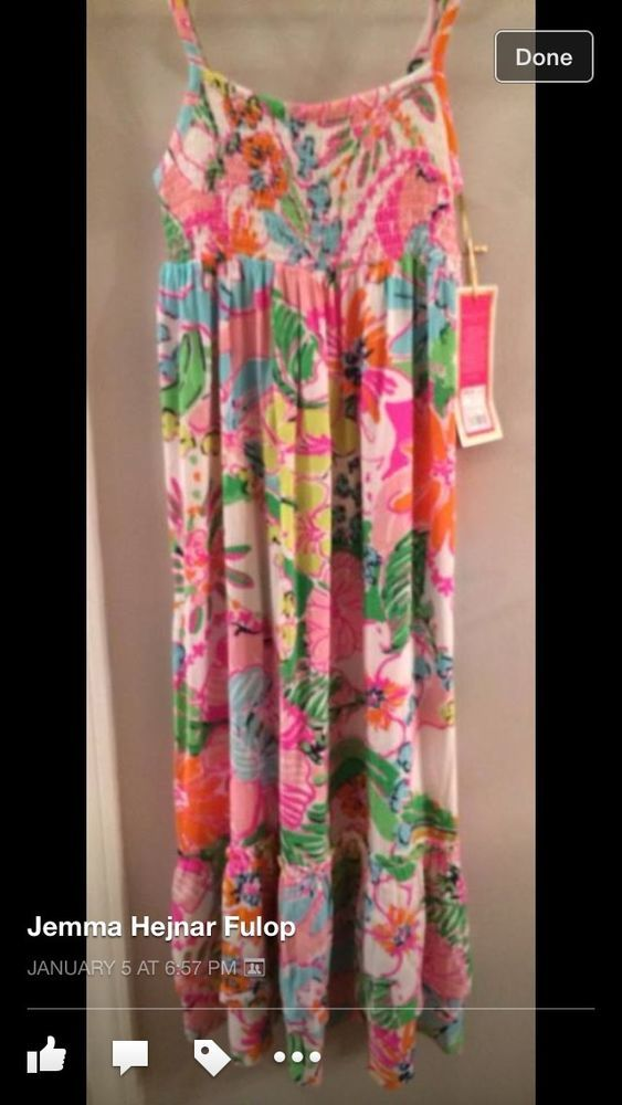 New Girls Lilly Pulitzer Target Maxi Dress 6x Nosie Posey Floral Long  #LillyPulitzer