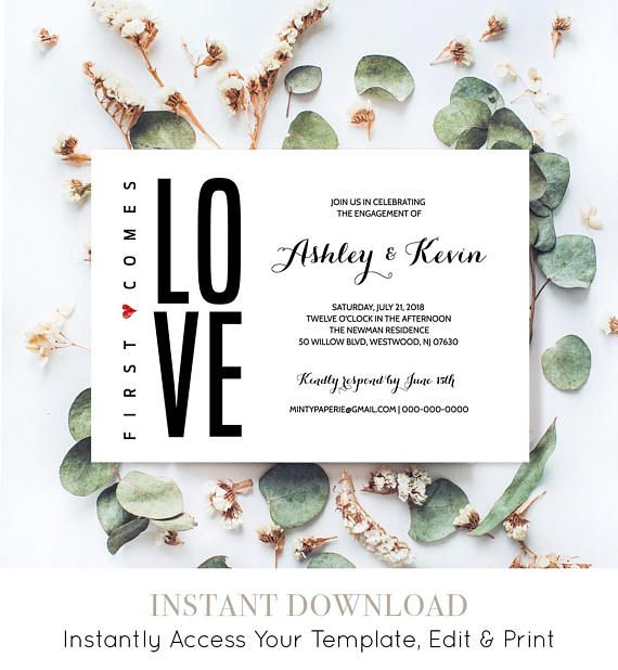 42 best Engagement Elope Vow Renewal by MP images on Pinterest - engagement invite templates