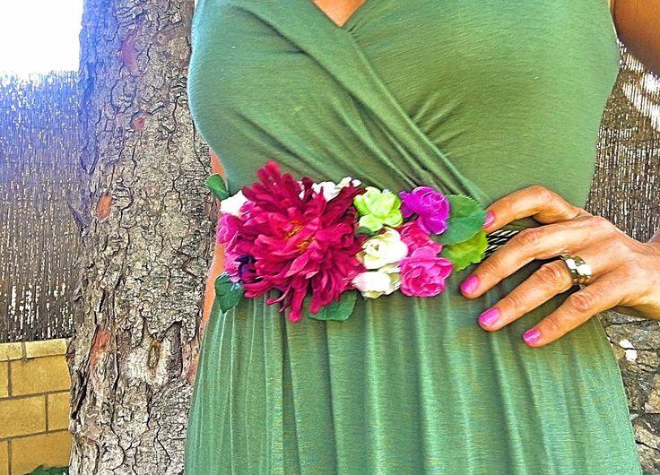 Cómo hacer un cinturón de flores fácil . DIY