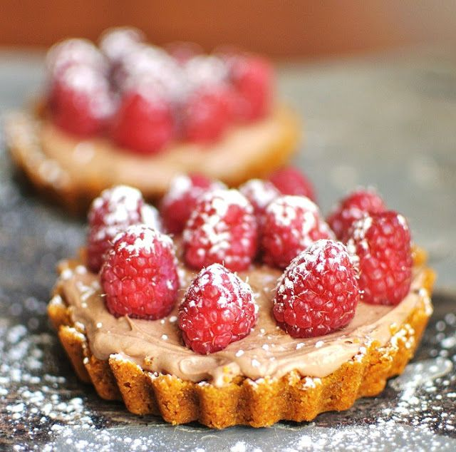 Chocolate Cream & Raspberry Tartlets recipe by Verses from my Kitchen