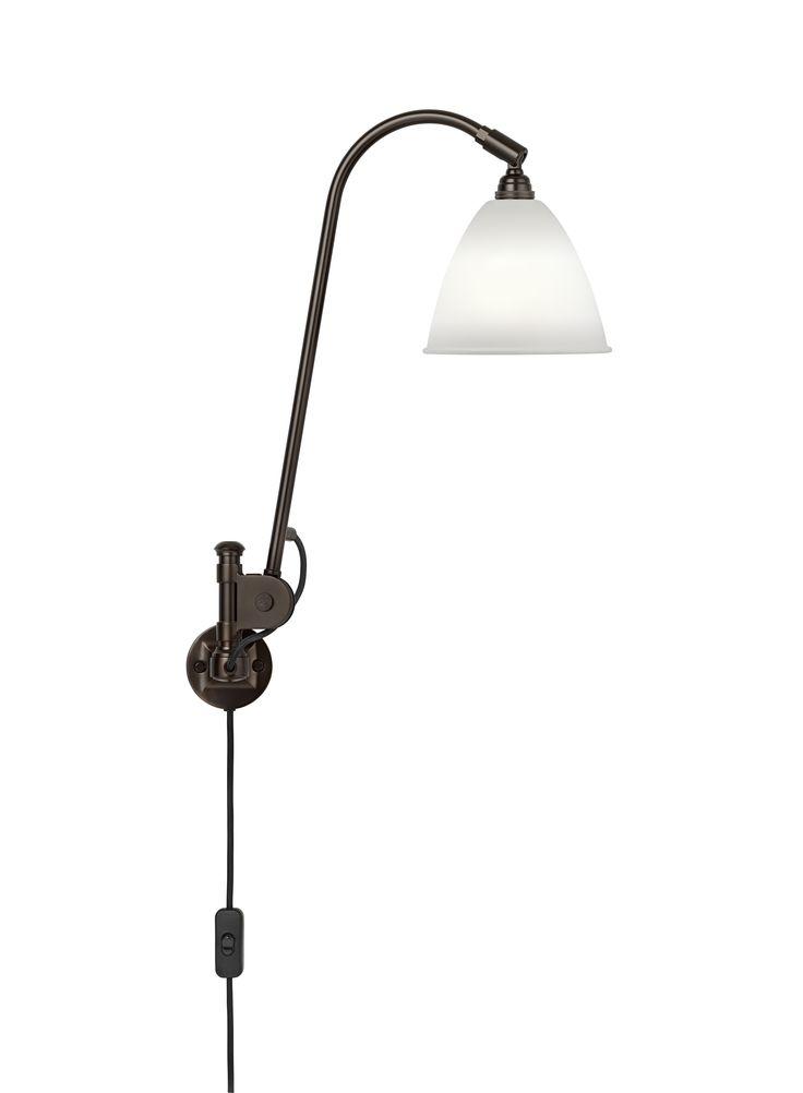 GUBI // Bestlite BL6 Wall Lamp in bone china/black brass