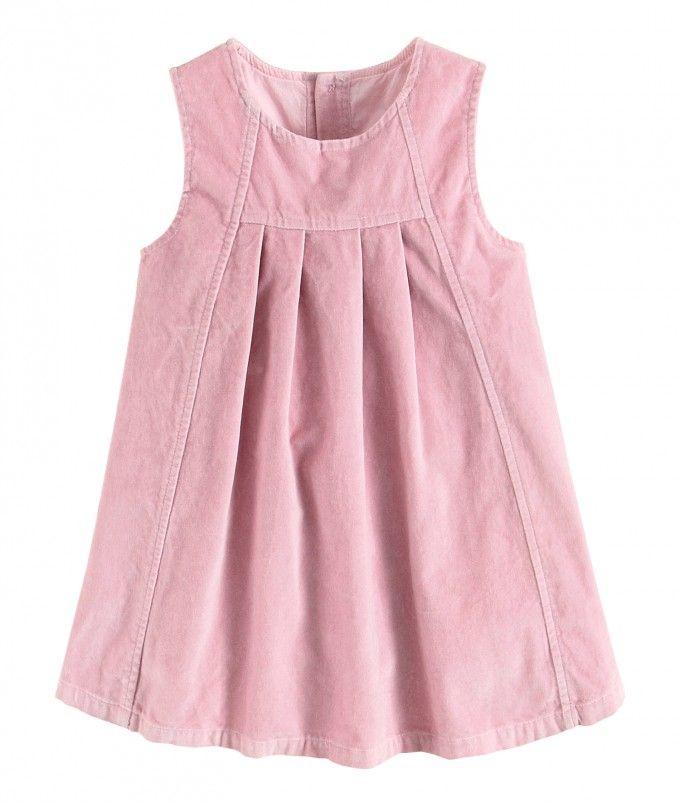 Нежно-розовый сарафан модного фасона (80, 86, 92, 104, 110р)