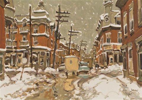 Rue Roy at de Bullion, Montreal by John Little