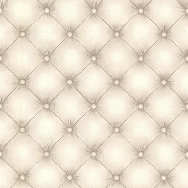 Beacon House 56 4 Sq Ft Chesterfield Off White Tufted Leather Wallpaper 2604 21233 The Home Depot Tufted Leather Wallpaper Off White Geometric Wallpaper