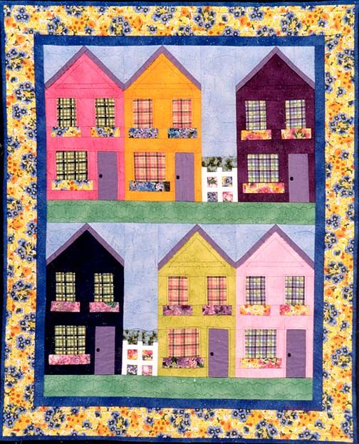 Row house quilt block click on the links below to for Front door quilt pattern