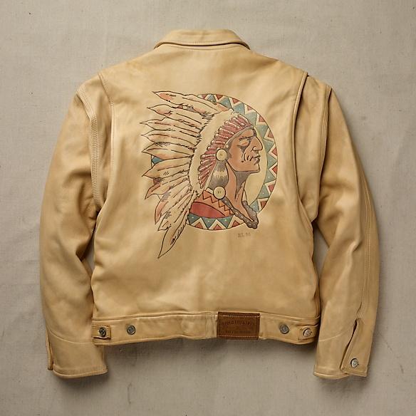 Vintage | Ralph Lauren Hand-Painted Lambskin Jacket