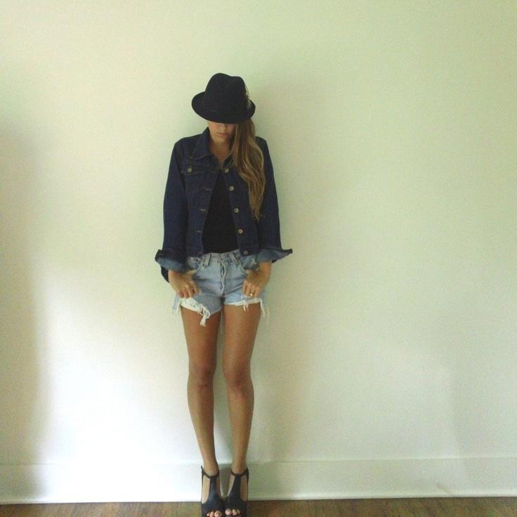 Dark Denim Jacket  //  Dark Jean Jacket  //  Ladies Womens Short Summer Jean Jacket. $48.00, via Etsy.