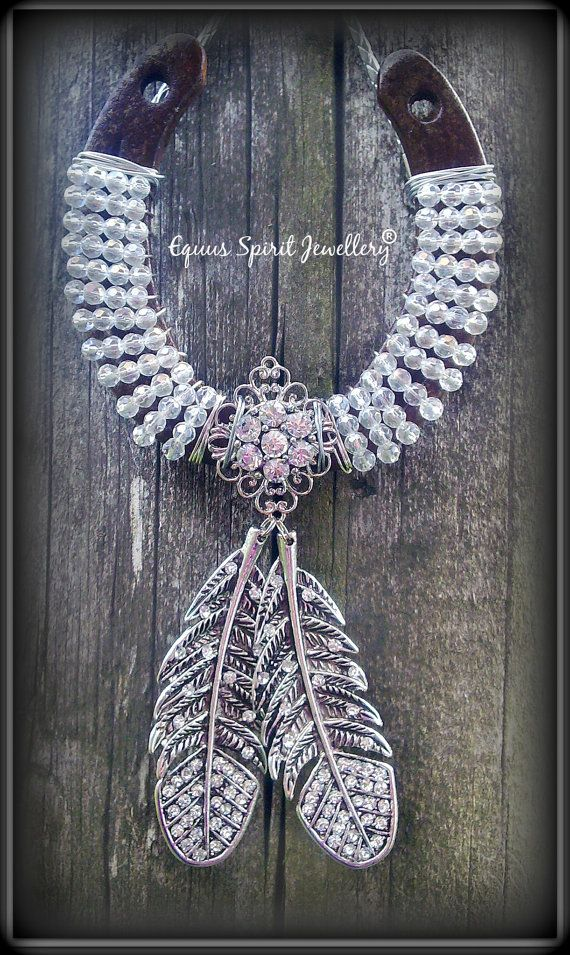 Twin feather bling good fortune beaded by EquusSpiritJewellery, £25.00