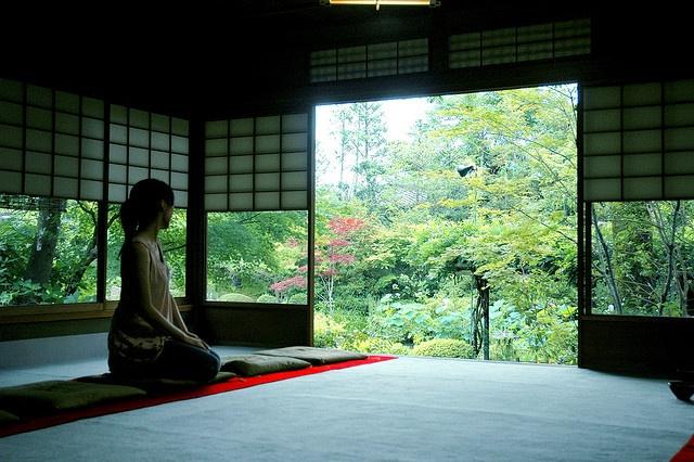 contemplation - at the Japanese tea room at Taizo-in, Myoshinji