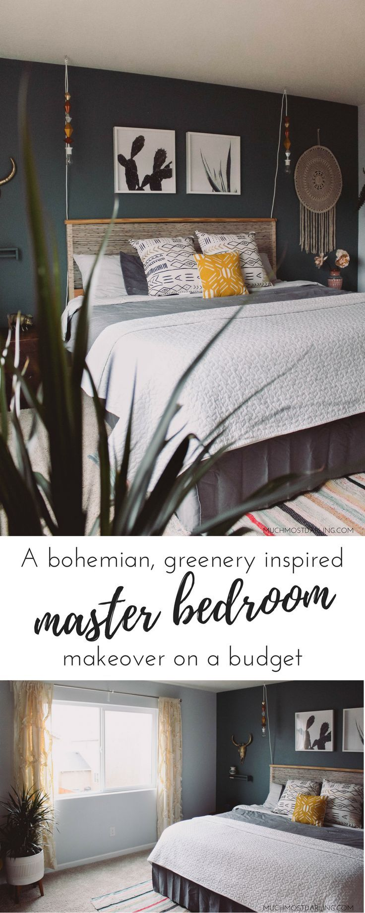 A Master Bedroom Refresh Greenery And Texture Master Bedroom