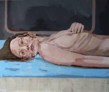 """Saatchi Art Artist joao teixeira; Painting, """"Nude on the floor"""" #art"""
