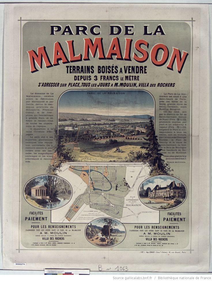 Parc de la Malmaison terrains boisés à vendre depuis 3F le mètre... : [affiche] / [Jules Chéret]
