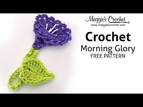 Morning Glory Free Crochet Pattern - Right Handed - YouTube