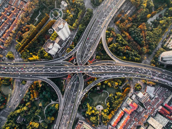 Reveal the car-centric urban development in Shanghai.  #shanghai #china #traffic #aerialphotography #dronephotography