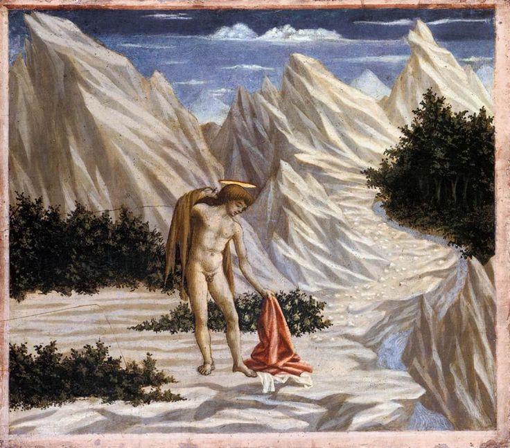 Святой Иоанн в пустыне. 1445 г. Доменико Венециано. Темпера по дереву. Национальная галерея искусств, Вашингтон.