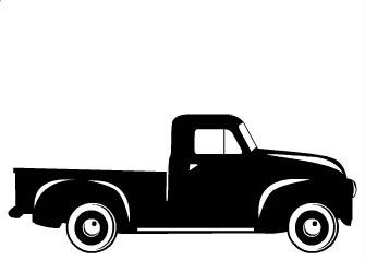 Vintage Pickup Truck Fall Boys SVG Cut File by TLPMonoAndMore