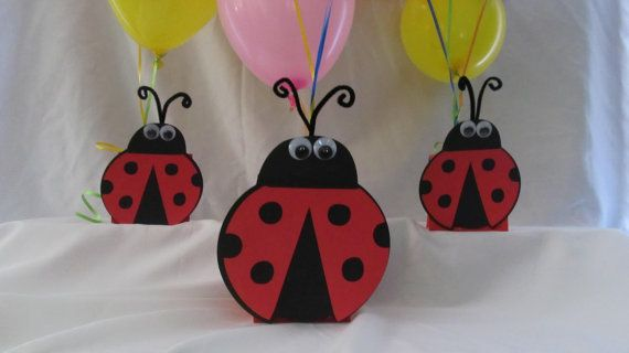 Ladybug Party Centerpiece by DreamComeTrueParties on Etsy, $15.00