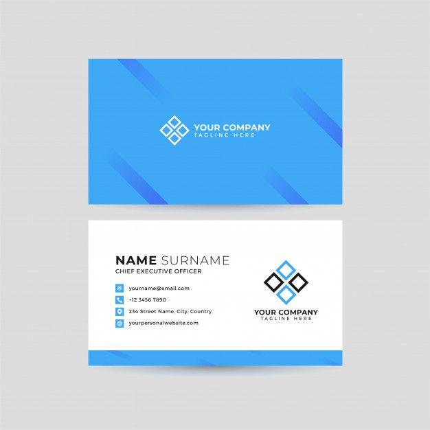Professional Business Card Template Di 2020 Dengan Gambar