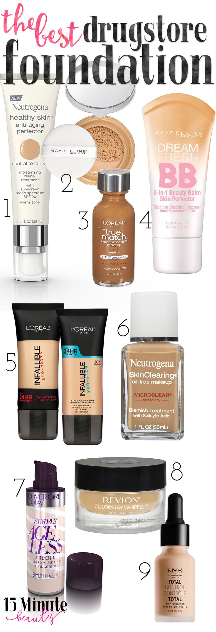 The Best Drugstore BB Creams and Foundations