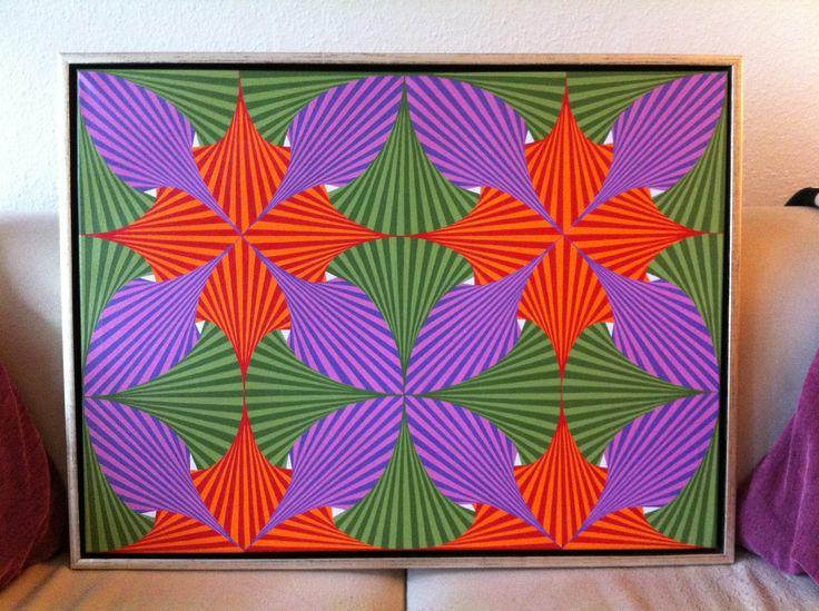 "Titel ""Hvad Øjet Ser"" English ""Meets the Eye"" 80x60 cm. Acrylic Colors"