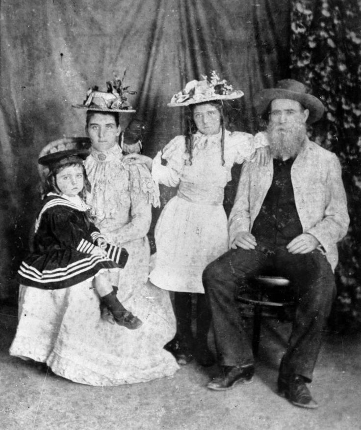 Prospector William Lakeland and family from Neville Creek near Laura North Queensland 1905