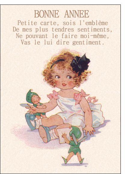 Carte de voeux 2013 ancienne à envoyer par La Poste. De jolies cartes