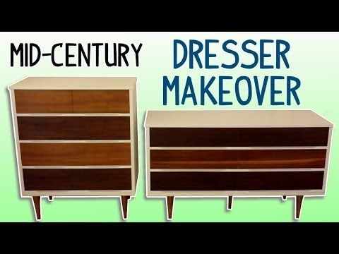 MidCentury Dresser Makeover (with Homemade Wood Stain) - YouTube
