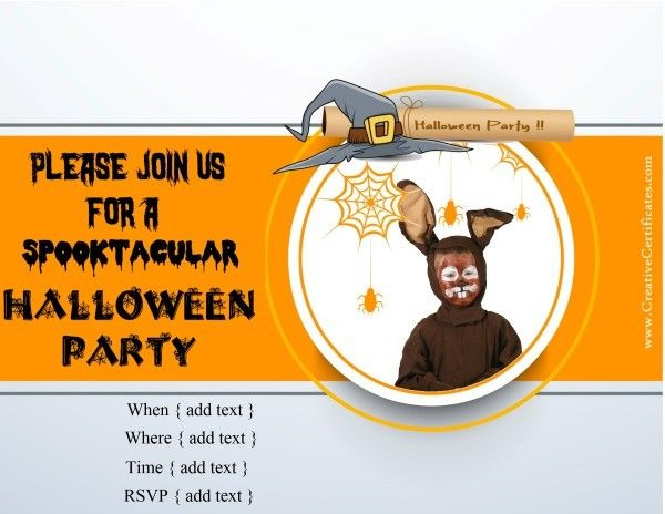 42 best halloween images on pinterest halloween cards custom halloween invitations add your own photo and text stopboris Images